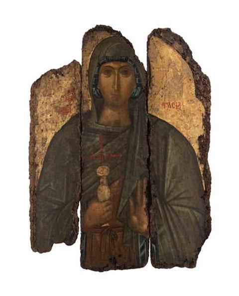 Η Αγία Αναστασία, 14ος αιώνας (φωτ.: Εφορεία Αρχαιοτήτων Κυκλάδων).