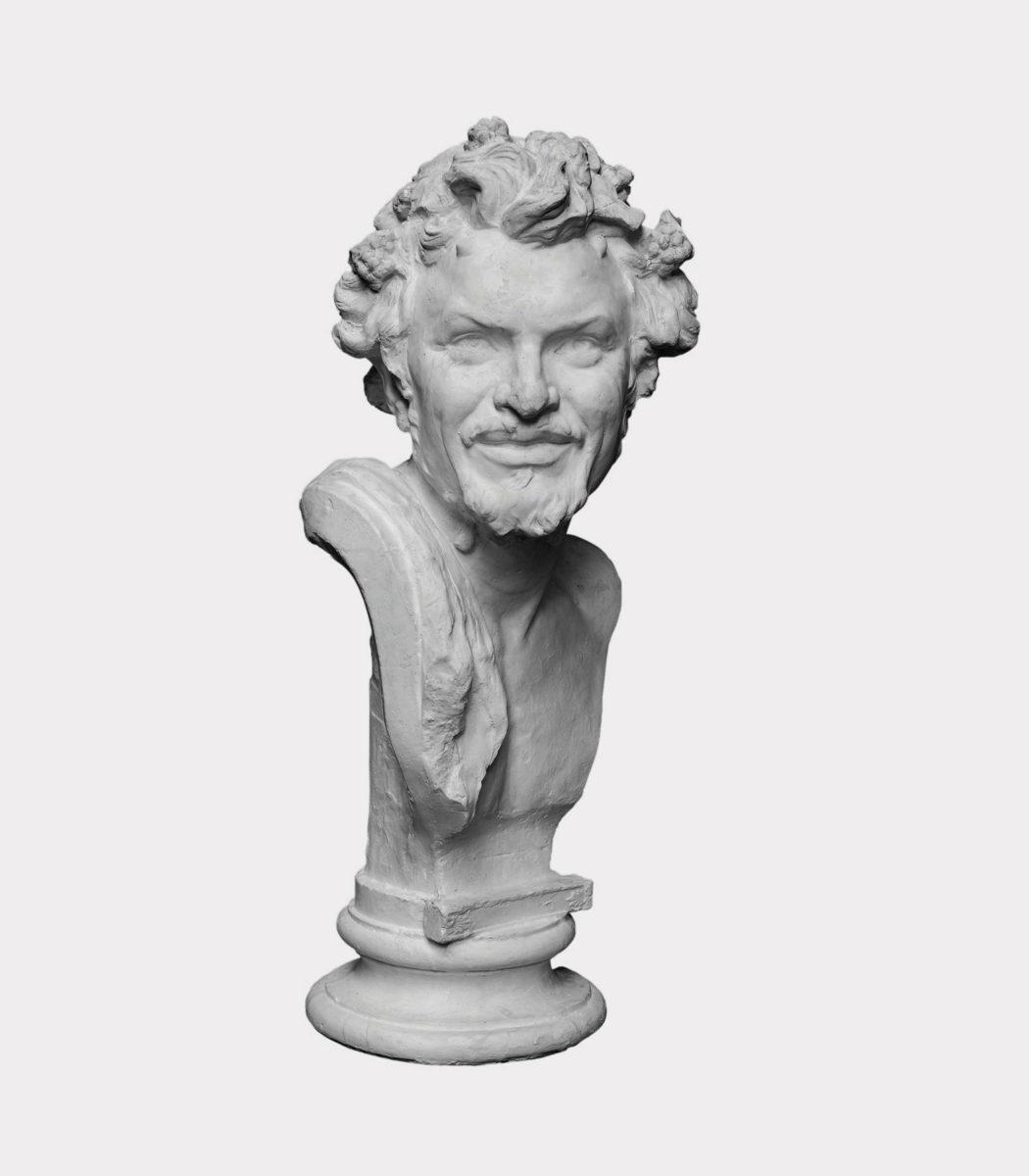 Κεφάλι Σατύρου. Γύψος, 65x30x26 εκ. (ΕΠΜΑΣ 1304/α). Ακριβές αντίγραφο από το πρωτότυπο του 1878. © Εθνική Πινακοθήκη-Μουσείο Αλεξάνδρου Σούτσου, φωτ.: Σταύρος Ψηρούκης.