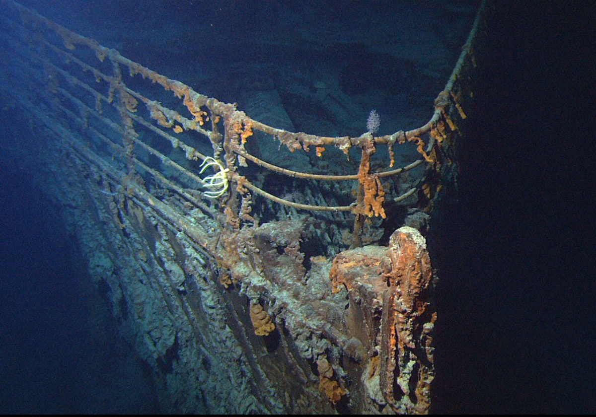 Η πλώρη του Τιτανικού σε φωτογραφία του 2004 (φωτ.: Wikipedia).