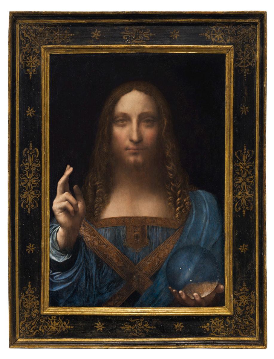 Εικ. 1. Leonardo da Vinci (1452-1519), «Salvator Mundi», περ. 1500. Λάδι σε ξύλο, 65,7x45,7 εκ. Πωλήθηκε σε τιμή ρεκόρ προς $450.312.500 από τον οίκο Christie's, στις 15 Νοεμβρίου 2017, κατέχοντας τη θέση του ακριβότερου έργου τέχνης που έχει πωληθεί έως σήμερα. Φωτ.: © Christie's.