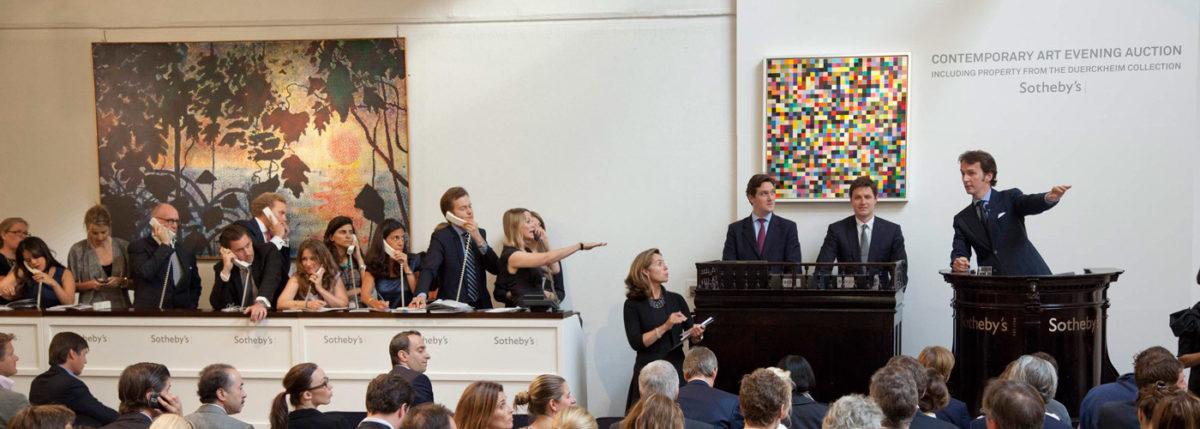 Εικ. 5. Στιγμιότυπο από τη δημοπρασία «Contemporary Art Evening Auction: Including Property from the Duerckheim Collection» του οίκου Sotheby's στο Λονδίνο στις 29 Ιουνίου 2011. Φωτ.: © Sotheby's.