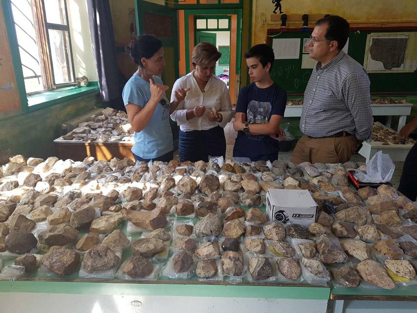 Το εργαστήριο της ερευνητικής ομάδας στεγάζεται στο παλιό δημοτικό σχολείο του χωριού (φωτ.: Περιφέρεια Βορείου Αιγαίου).