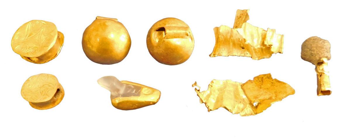 Πρωτομινωικές ΙΙ και Μεσομινωικές ΙΑ χάνδρες και ταινίες από χρυσό.