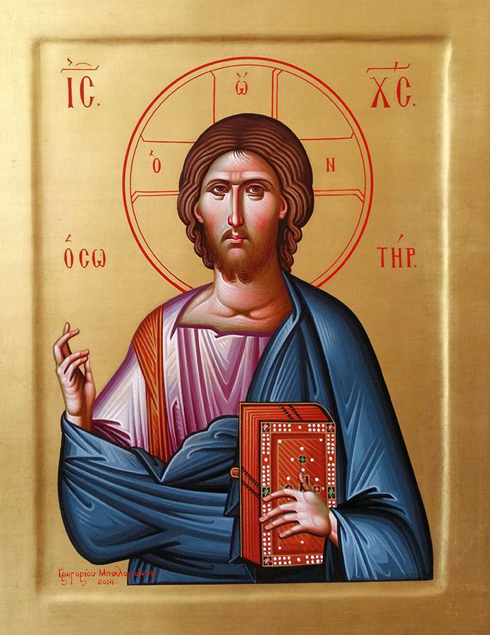 «Ιησούς Χριστός Σωτήρ», έργο του Γρηγόρη Μπαλογιάννη.