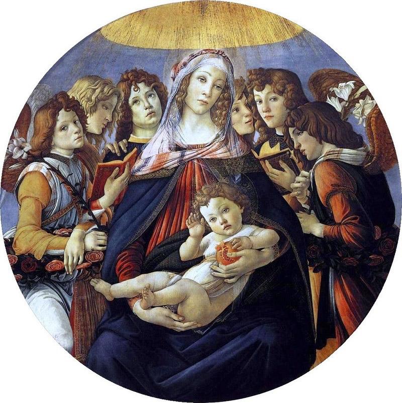 Η «Μαντόνα του Ροδιού», έργο του Σάντρο Μποτιτσέλι, 1487.