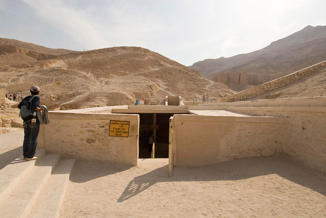 H είσοδος στον τάφο του Τουταγχαμών (φωτ.: Τhe Getty Conservation Institute).