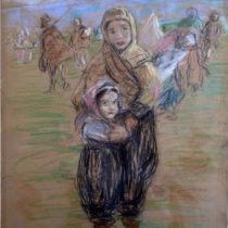 Θ. Φλωρά-Καραβία και Ν. Πέτροβιτς: στην πρώτη γραμμή της τέχνης και του πολέμου
