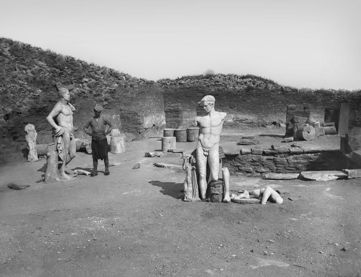 Στιγμιότυπο από την ανασκαφή στη Δήλο. Φωτ.: ΥΠΠΟΑ – Γαλλική Σχολή Αθηνών.