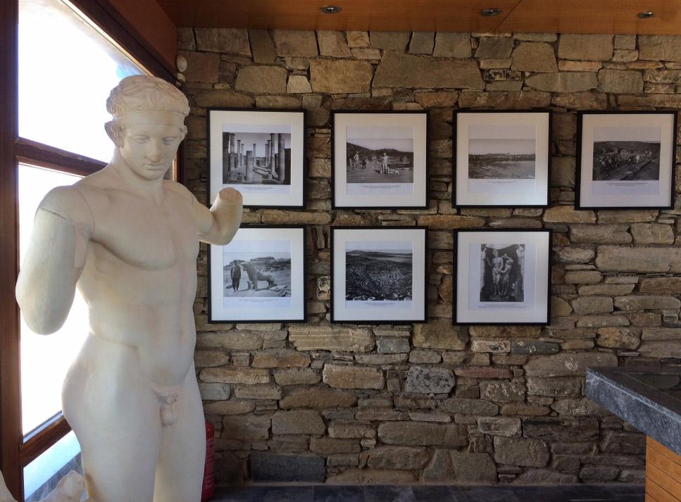 Άποψη από το Πωλητήριο της Δήλου. Φωτ.: ΥΠΠΟΑ – Γαλλική Σχολή Αθηνών.