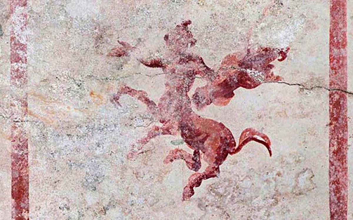 Νωπογραφία από την «Αίθουσα της Σφίγγας» (φωτ.: Parco Archeologico del Colosseo).