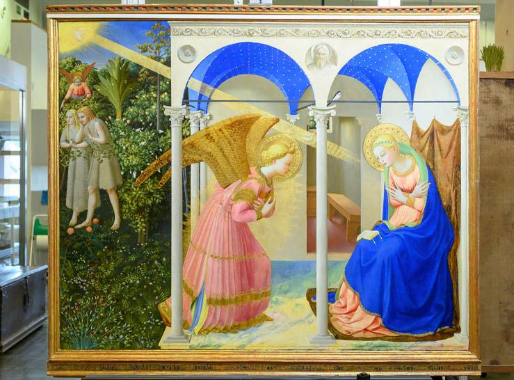 «Ευαγγελισμός», έργο του Φρα Αντζέλικο. Φιλοτεχνήθηκε στα μέσα της δεκαετίας του 1420-1430. Φωτ.: Μουσείο του Πράδο.