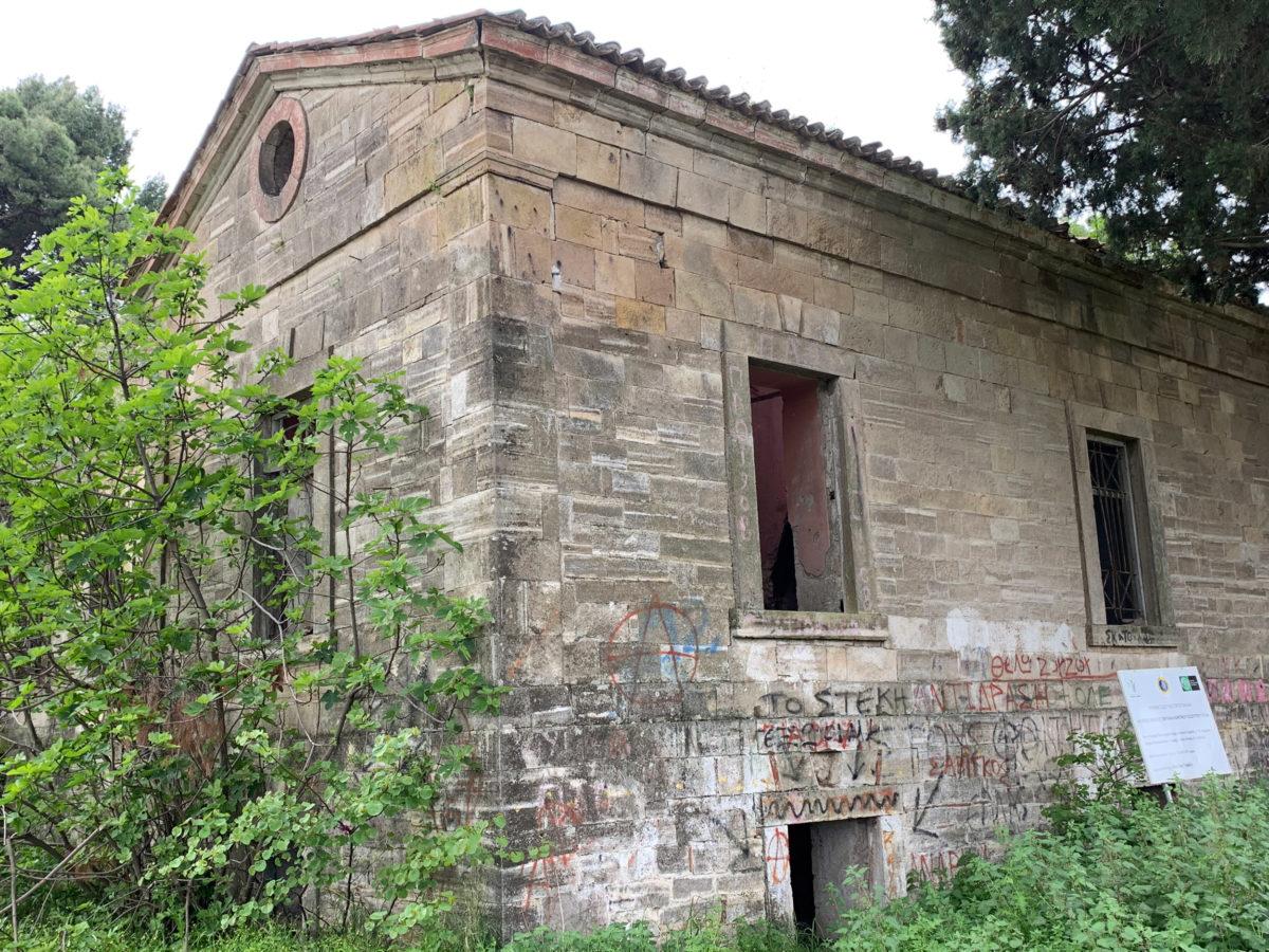To αρχοντικό Τομπάζη, που αποτελεί ωραιότατο δείγμα νεοκλασικισμού, ολοκληρώθηκε περίπου το 1864 (φωτ.: ΑΠΕ-ΜΠΕ).
