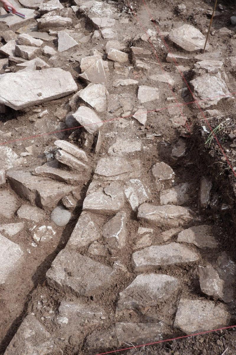 Κατασκευαστικές λεπτομέρειες κυκλικού κτίσματος (φωτ.: Τμήμα Αρχαιοτήτων Κύπρου).
