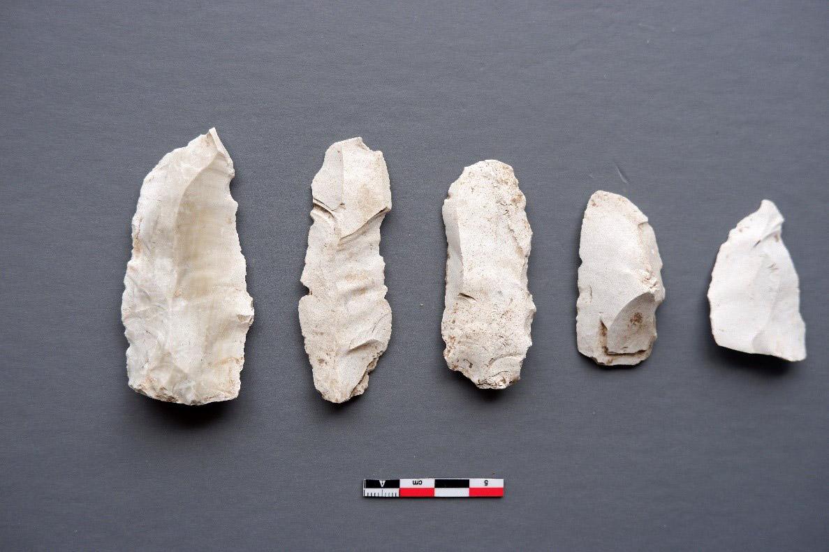 Απολεπισμένα εργαλεία από πυριτόλιθο (φωτ.: Τμήμα Αρχαιοτήτων Κύπρου).