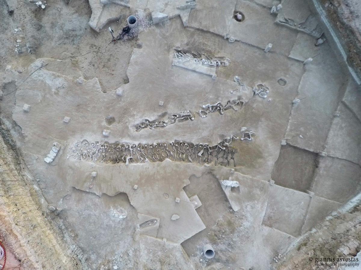 Άποψη του χώρου όπου βρέθηκαν οι «Δεσμώτες» του Φαλήρου (φωτ.: ΑΠΕ-ΜΠΕ).