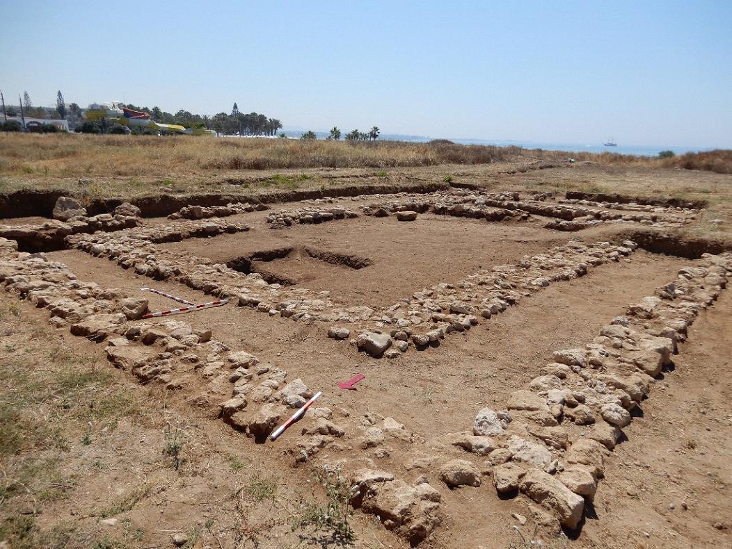 Ο χώρος του περίπτερου ναού (φωτ.: Τμήμα Αρχαιοτήτων Κύπρου).