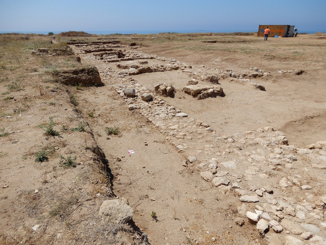 Η σειρά των δωματίων από τα βορειοδυτικά (φωτ.: Τμήμα Αρχαιοτήτων Κύπρου).