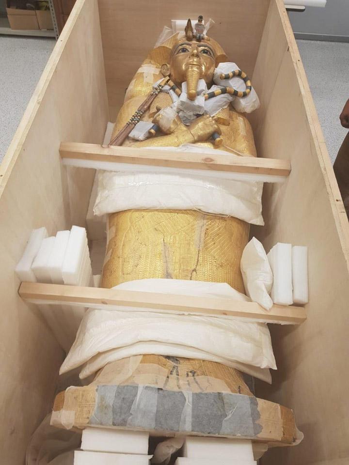 Η σαρκοφάγος του φαραώ Τουταγχαμών (φωτ.: Υπουργείο Αρχαιοτήτων της Αιγύπτου).
