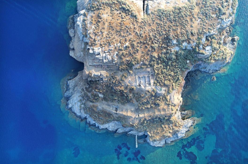 Αεροφωτογραφία τμήματος της βραχονησίδας «Βρυοκαστράκι» (φωτ.: Κώστας Ξενικάκης).