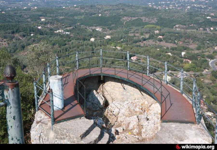 Το Παρατηρητήριο του Κάιζερ στην πραγματικότητα είναι μία σιδερένια εξέδρα σμιλευμένη πάνω σε βράχο.