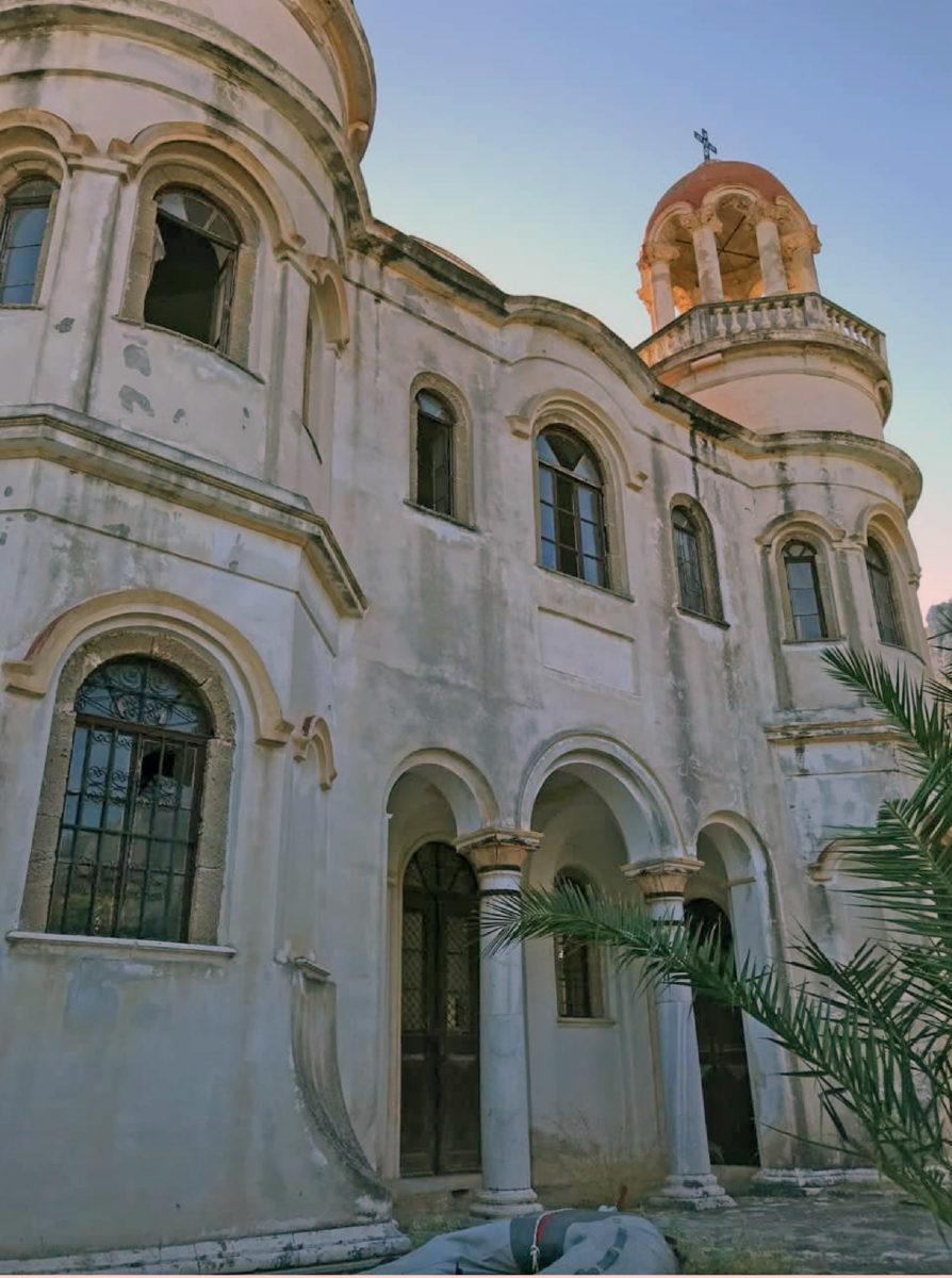 Ο ναός του Αγίου Γεωργίου του Σαντραπέ, στο Καστελόριζο (φωτ.: ΑΠΕ-ΜΠΕ).
