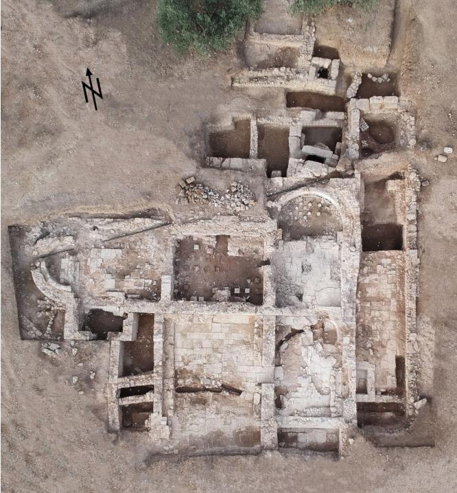 Αεροφωτογραφία του χώρου της ανασκαφής (φωτ.: ΥΠΠΟΑ).