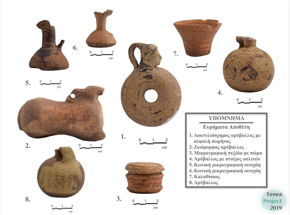 Ευρήματα από την ανασκαφή (φωτ.: ΥΠΠΟΑ).
