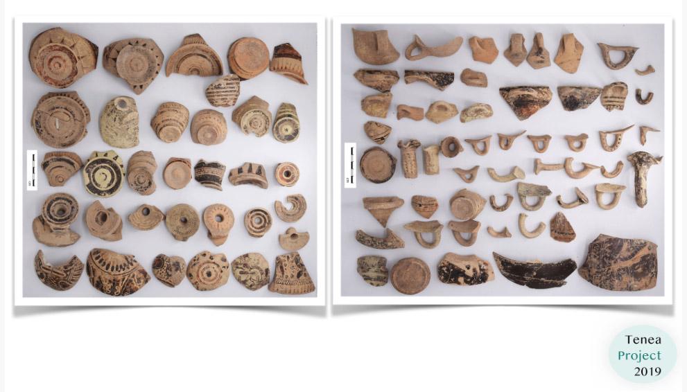 Αρχαϊκή κεραμική από τον αποθέτη (φωτ.: ΥΠΠΟΑ).