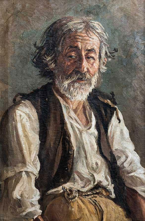 «Γέρος (O αλήτης σοφός)», περ. 1925, λάδι σε καμβά, ιδιωτική συλλογή.
