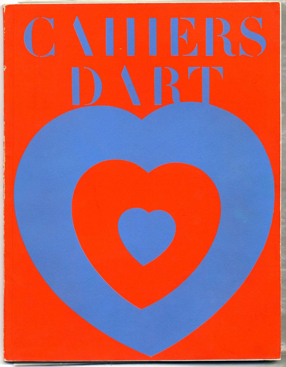 Το εμβληματικό εξώφυλλο με τις ομόκεντρες καρδιές του Marcel Duchamp, «Cœurs Volants» στο τεύχος 1-2 των Cahiers d'Art, 1936. Marcel Duchamp© Association Marcel Duchamp / Adagp, Paris 2019 και ευγενική παραχώρηση των εκδόσεων Cahiers d'Art.