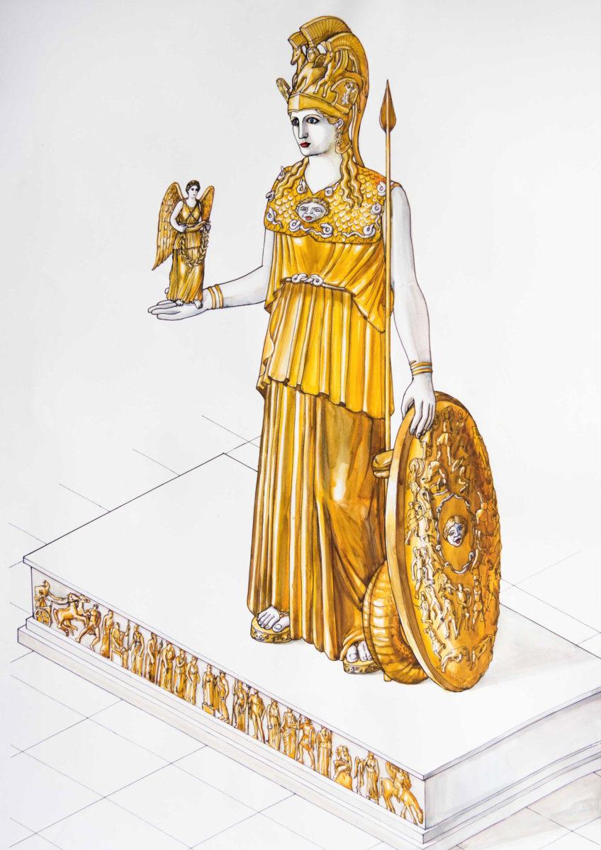 «Το χαμένο άγαλμα της Αθηνάς Παρθένου» στο Μουσείο Ακρόπολης (φωτ.: Μουσείο Ακρόπολης).