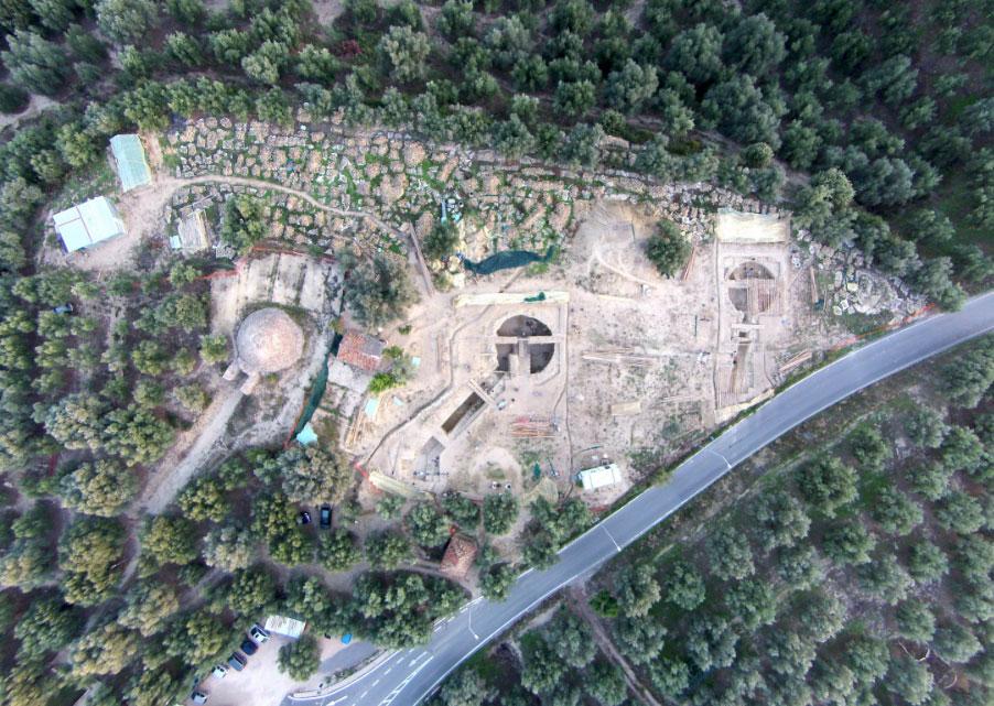 Αεροφωτογραφία της ανασκαφής (φωτ.: ΥΠΠΟΑ).
