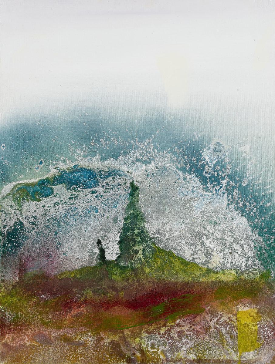 Έργο από την έκθεση «Το Νησί των Θησαυρών» του Μανώλη Χάρου.