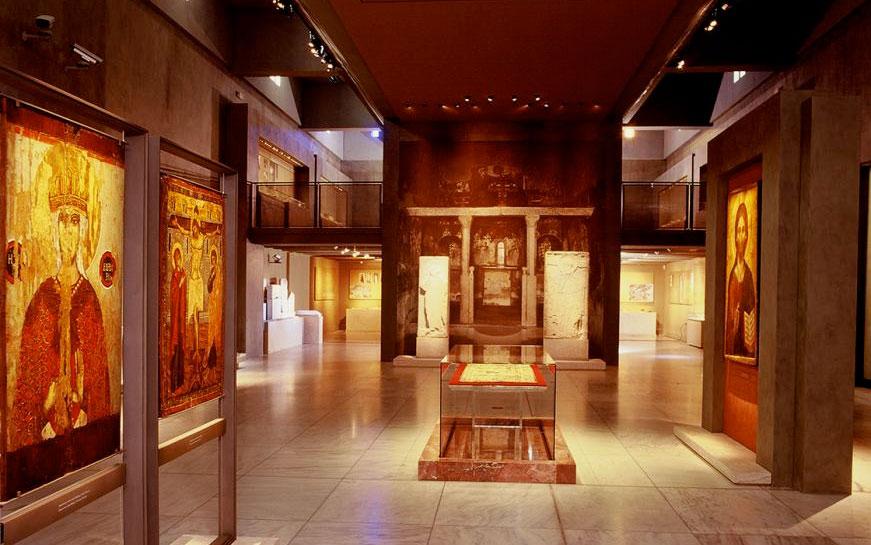 Μουσείο Βυζαντινού Πολιτισμού. Άποψη της εκθεσιακής ενότητας «Το Λυκόφως του Βυζαντίου (1204-1453)» (φωτ.: Μουσείο Βυζαντινού Πολιτισμού).