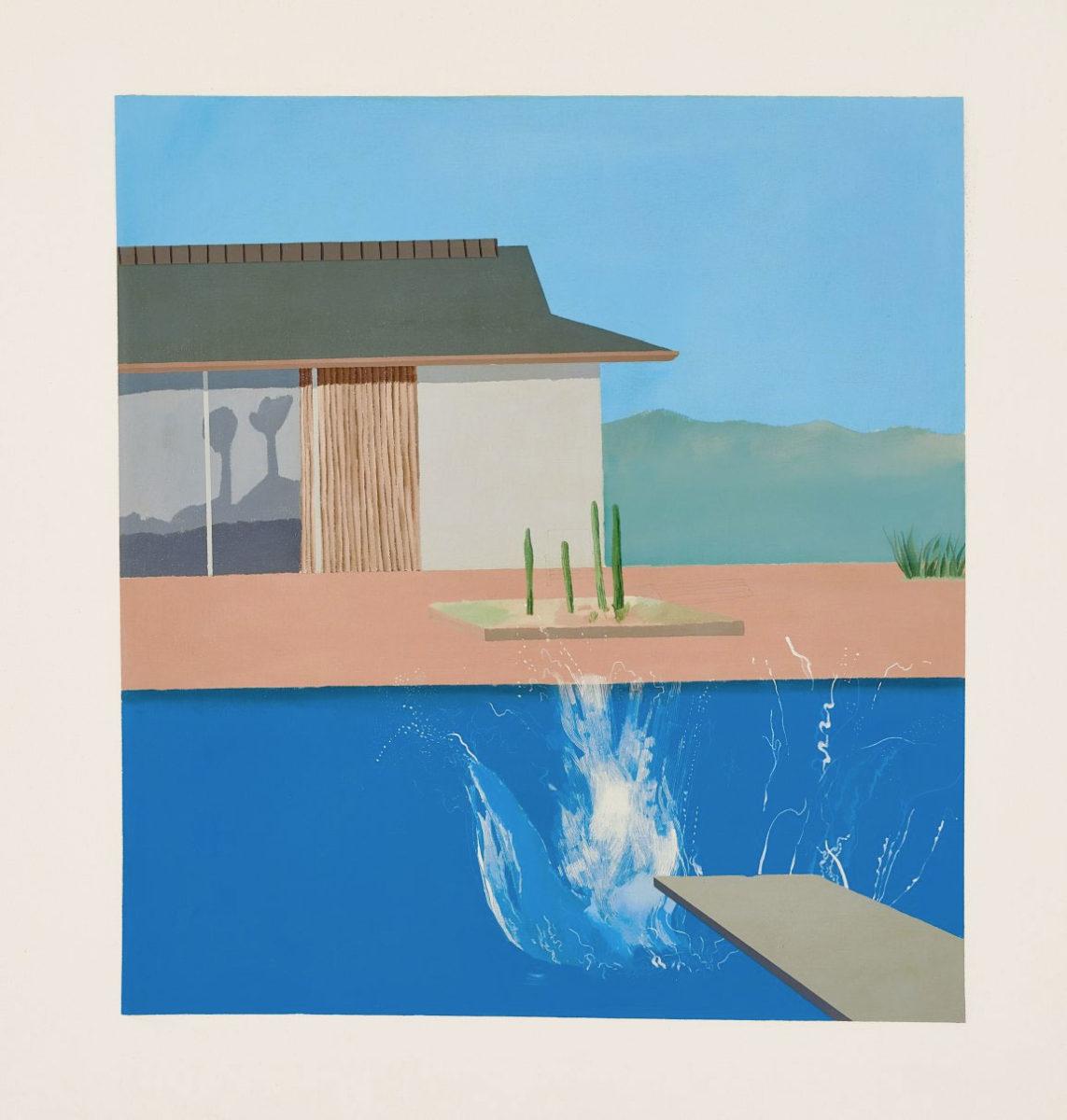 Ντέιβιντ Χόκνεϊ, «The Splash», 1966 (φωτ.: Sotheby's).