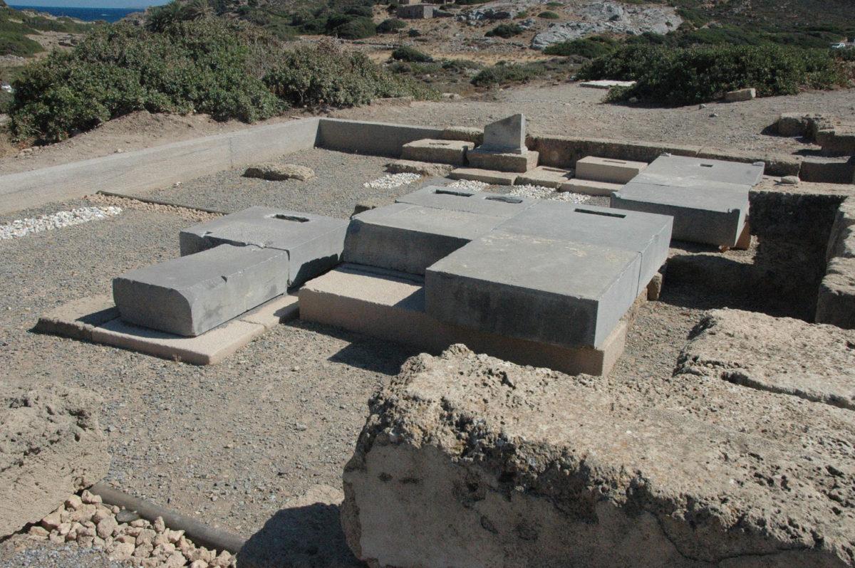 Λεπτομέρεια της Ύστερης Κλασικής και Ελληνιστικής Νεκρόπολης της Ιτάνου. © Βελγική Σχολή Αθηνών.