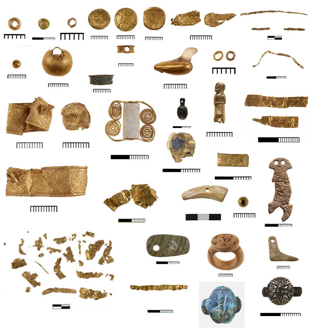 Κτερίσματα από την ανασκαφή του νεκροταφείου στον Πετρά Σητείας. © ΥΠΠΟΑ.