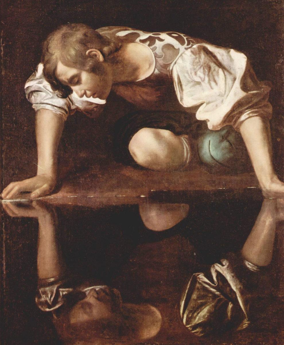 Καραβάτζο, «Νάρκισσος», 1597-1599. Ρώμη, Εθνική Πινακοθήκη Αρχαίας Τέχνης (φωτ.: Βικιπαίδεια).