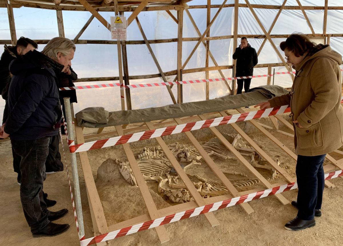 Άποψη της ανασκαφής στη Μικρή Δοξιπάρα (φωτ.: ΥΠΠΟΑ).