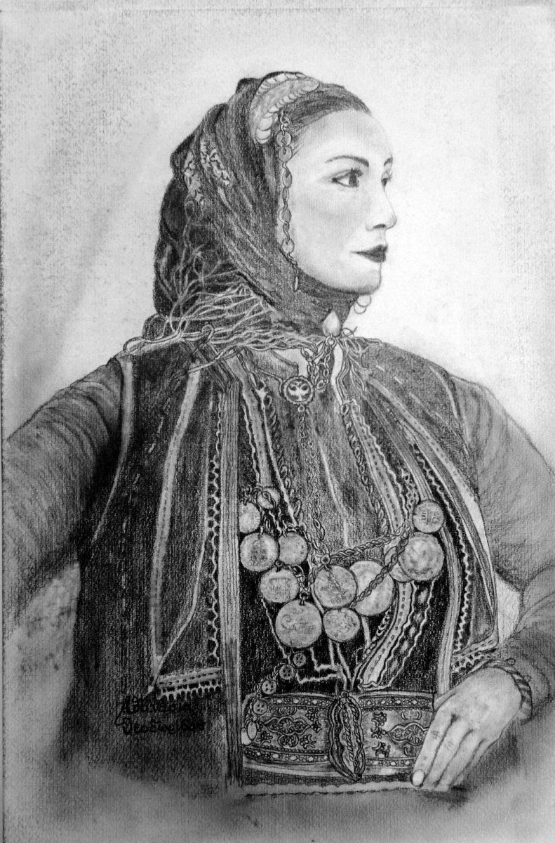 Ζωγραφίζοντας ελληνικές φορεσιές με μολύβι