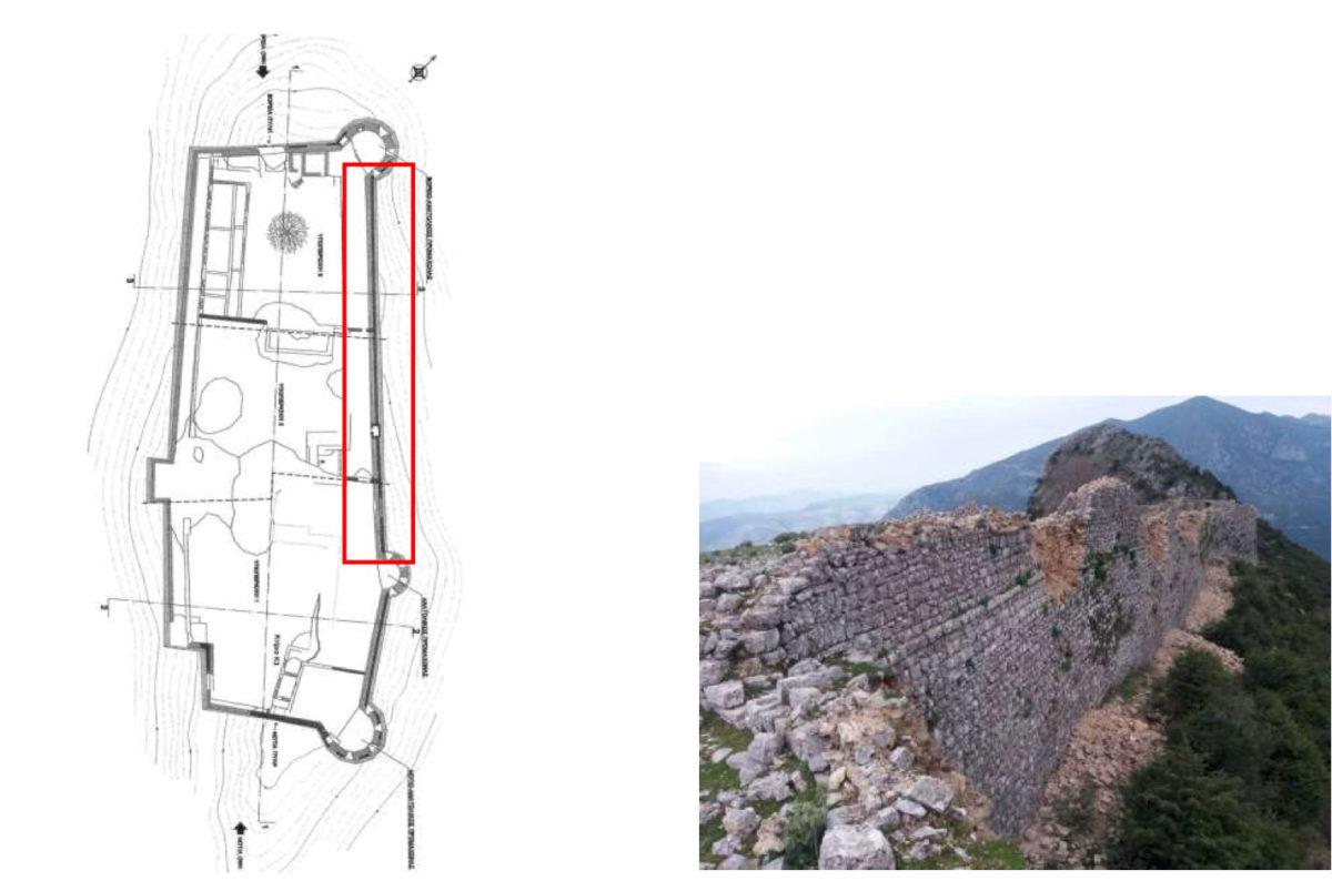 Κατάρρευση στο κάστρο της Κιάφας (φωτ.: ΥΠΠΟΑ).