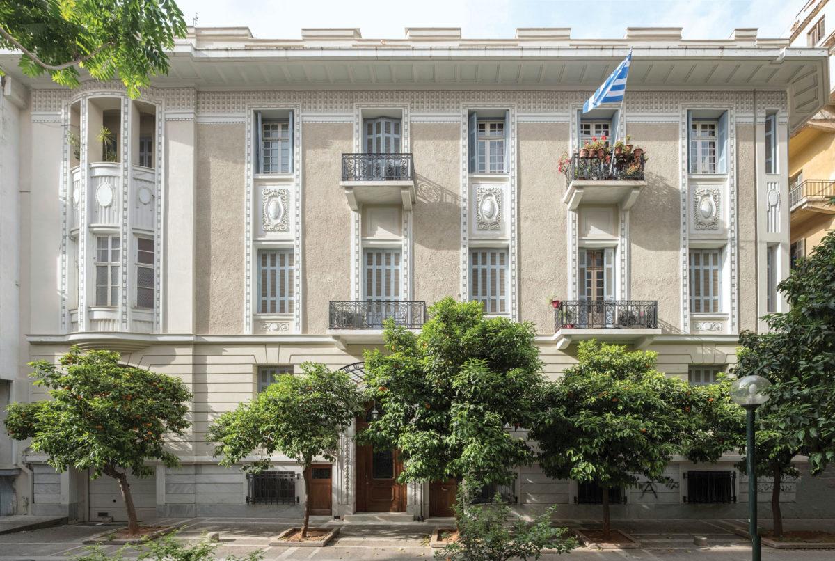 Οικοδομή Δημήτριου Κορκόδειλου, Σκαραμαγκά 4, Γειτονιά Μουσείου, Αθήνα (η φωτογραφία παραχωρήθηκε στο ΑΠΕ-ΜΠΕ από την Ειρήνη Γρατσία).
