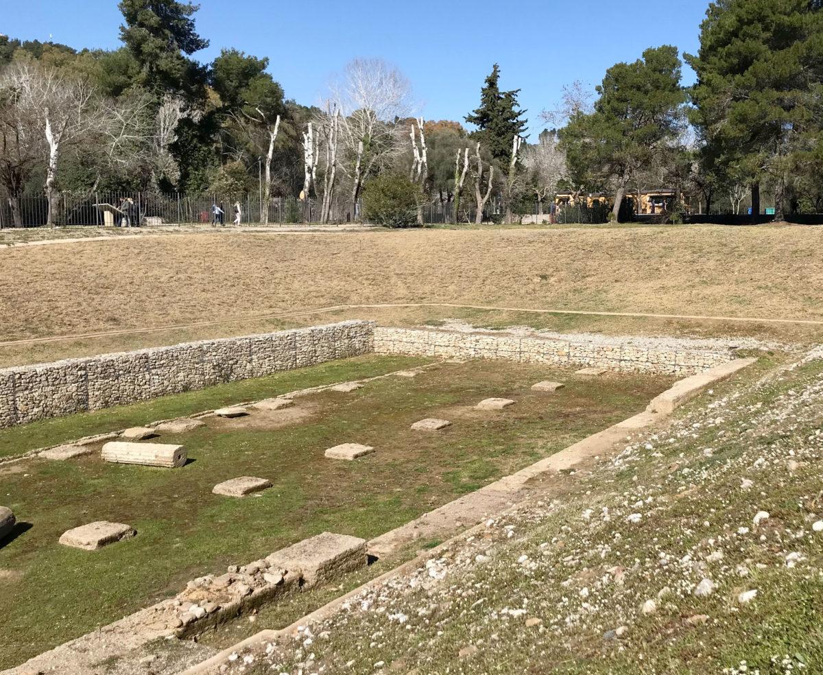 Αποκατάσταση του γυμνασίου της Αρχαίας Ολυμπίας