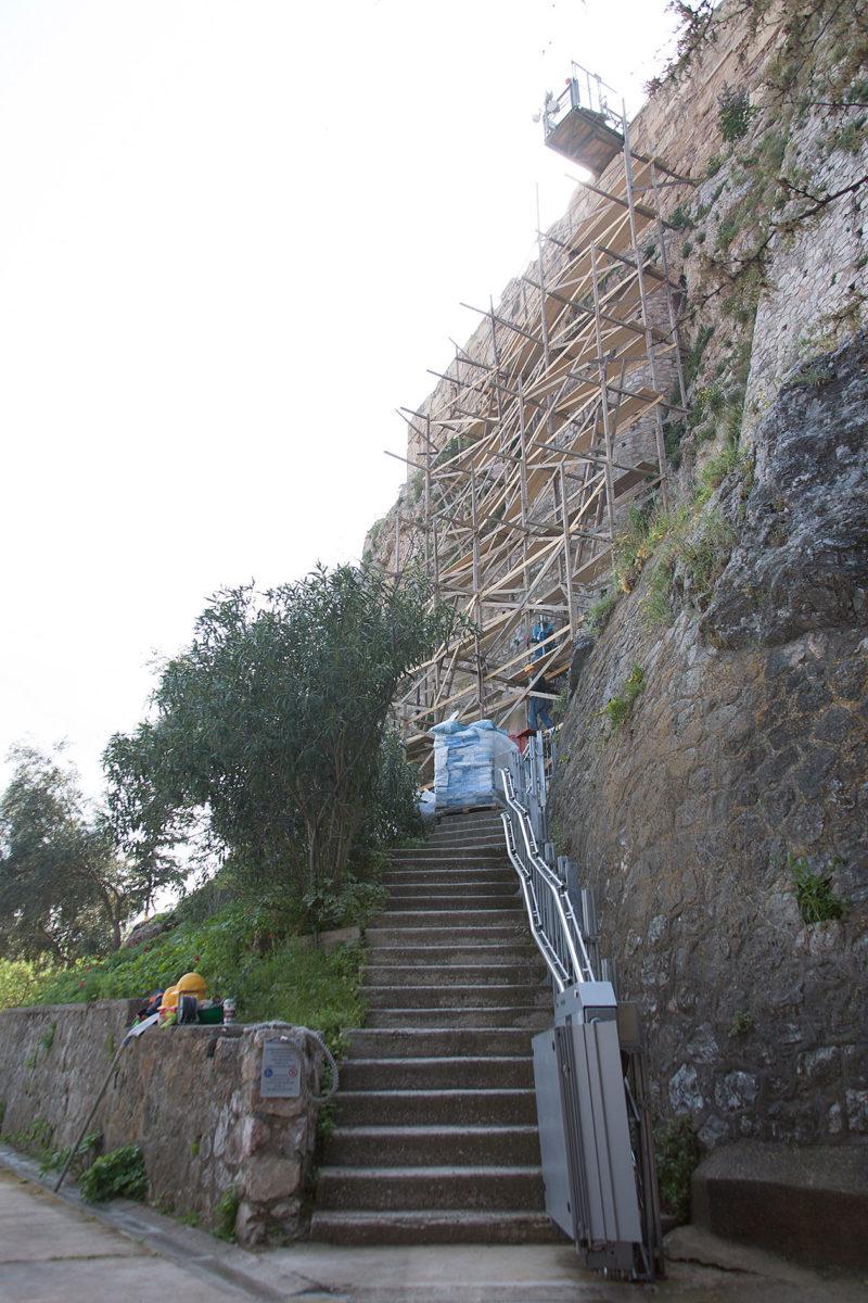 Εργασίες στον αρχαιολογικό χώρο της Ακρόπολης (φωτ.: ΥΠΠΟΑ).