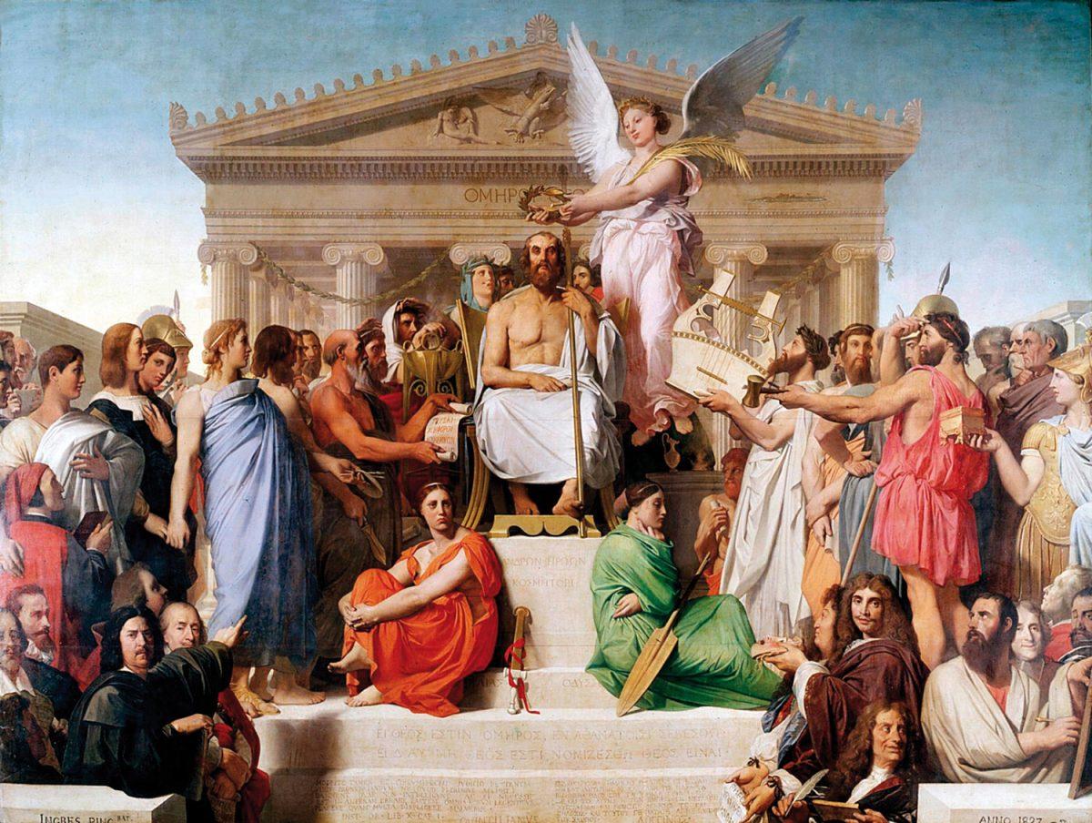 Jean–Auguste–Dominique Ingres, «Η αποθέωση του Ομήρου», 1827.