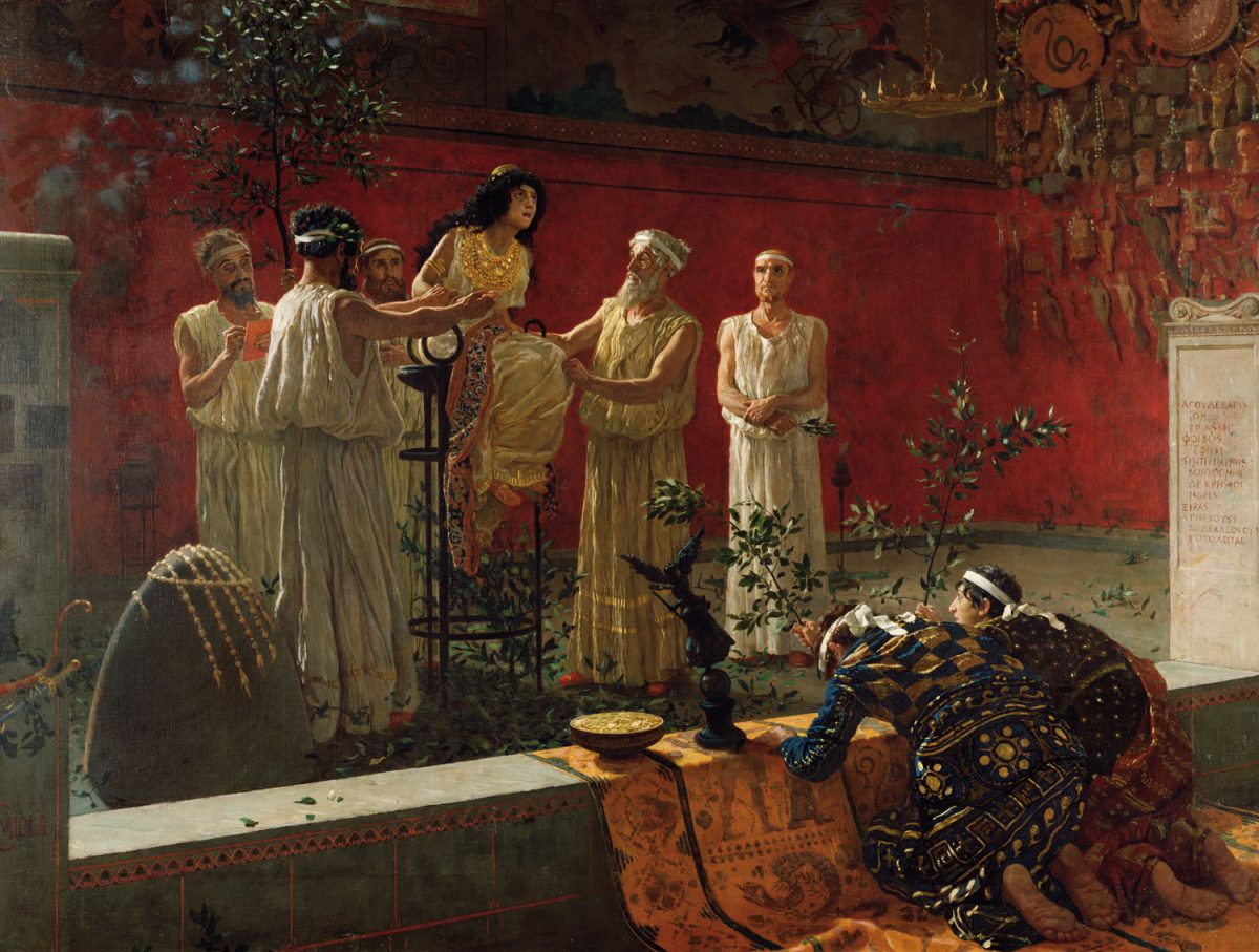 Camillo Miola (Biacca), «Ο χρησμός» (1880), J. Paul Getty Museum. Η φωτογραφία διατίθεται από το μουσείο στο πλαίσιο του προγράμματος Open Content.