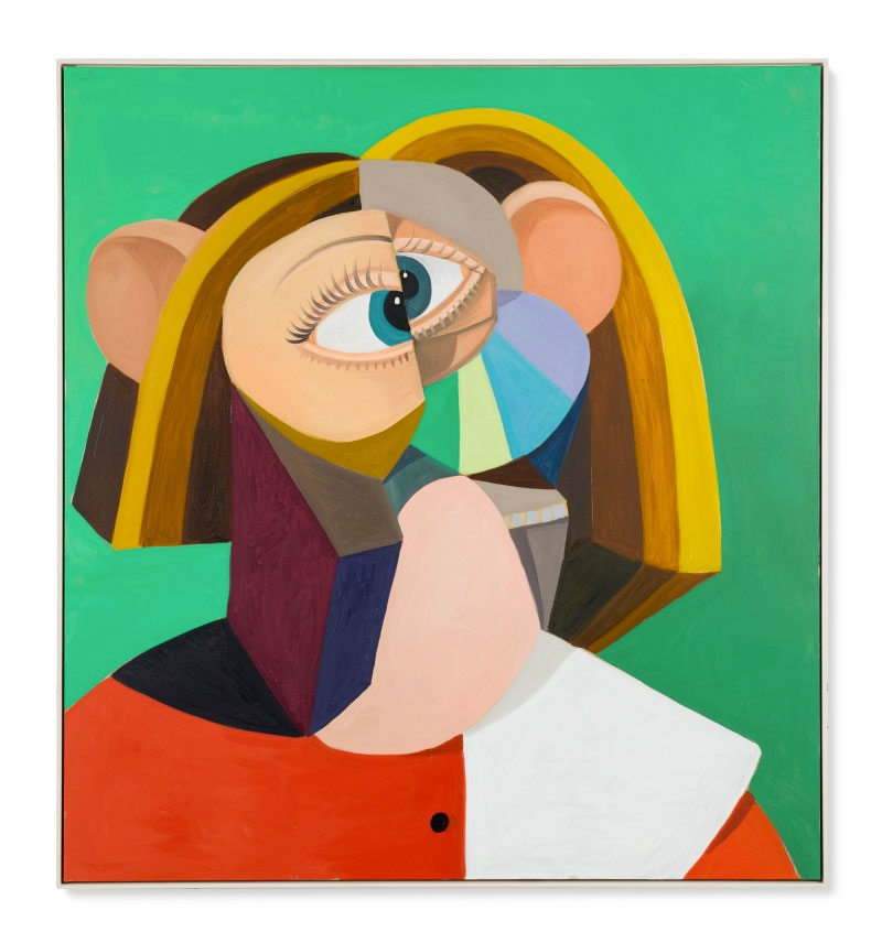 George Condo, «Woman with Golden Hair», 2018. Φωτ.: Sotheby's.
