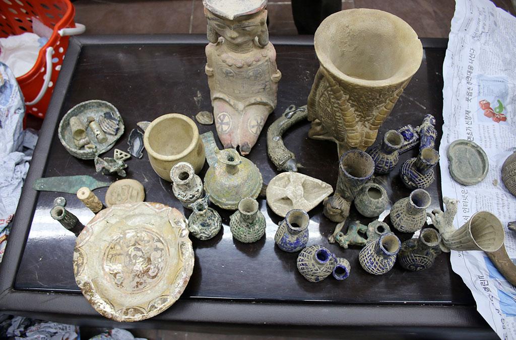 Το Αφγανικό Tελωνείο κατέσχεσε στο αεροδρόμιο της Καμπούλ 971 αντικείμενα πολιτιστικής αξίας (φωτ.: INTERPOL).