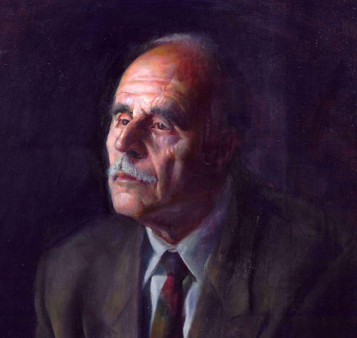 Γ. Δασκαλάκης, «Πορτραίτο Ντίνου Χριστιανόπουλου», λάδι (φωτ.: ΑΠΕ-ΜΠΕ / ΒΚΠ-ΑΠΘ).