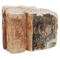 Βεργίο με τοιχογραφικό διάκοσμο από το ναό του Αγίου Φραγκίσκου. Φωτογραφικό αρχείο της Εφορείας Αρχαιοτήτων Ηλείας/ΥΠΠΟΑ/ΤΑΠ.